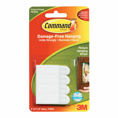 NEW 3M Command Small Picture Hanging Strips 8 Pack By Spotlight