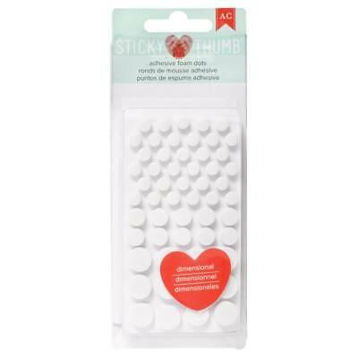 NEW American Crafts Sticky Thumb White Adhesive Foam Dots By Spotlight