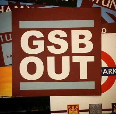 """West Ham United """"GSB OUT"""" Stickers (x100)"""