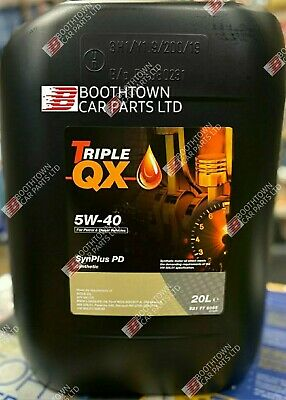 Triple QX SynPlus PD SAE 5W40 Fully Synthetic Car Engine Oil 5L PD Spec 5 Litre
