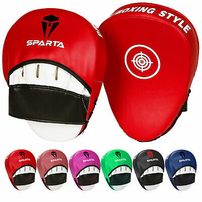 Curved Focus Pads Hook Jab Mitts Boxing MMA Martial Arts UFC Fight Gym Training