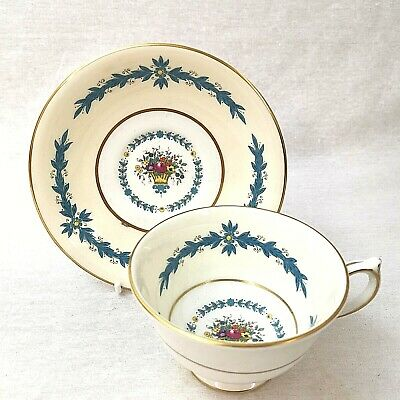 Vintage Aynsley Tea Cup and Saucer Cambridge Pattern Number 7818