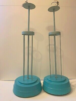Very rare. 1960s. Rocket inspired ceiling-light fittings from American diner.