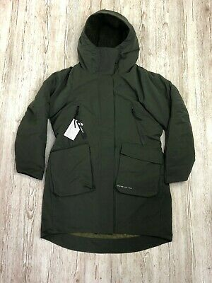 W NIKE NSW TECH PACK PARKA JACKET COAT DOWN FILL GREEN Size SMALL S 939493 355