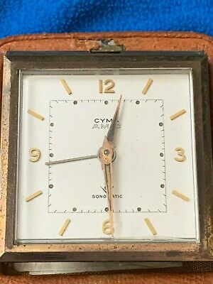 Pocket Travel Clock And Case     Rare    Very Collectable