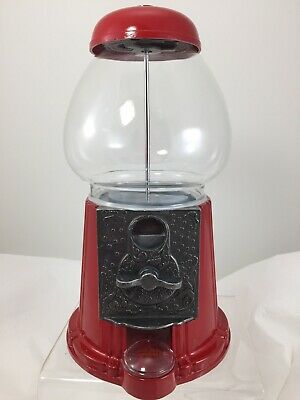 Vintage 1985 Red Metal & Glass Gumball Machine by Carousel Clean Complete! NICE!