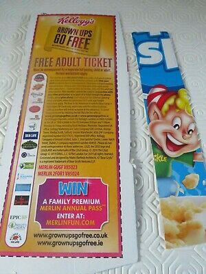 Kelloggs - FREE ADULT Entry Voucher