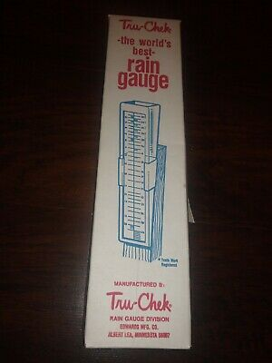 Vintage Tru-Check The World's Best Rain Gauge New Old Stock In Box USA