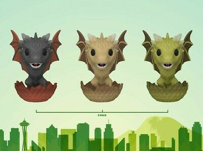 Funko ECCC 2020 Game of Thrones Dragons 3 Pack Exclusive Preorder Shared