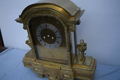 antique big brass clock case