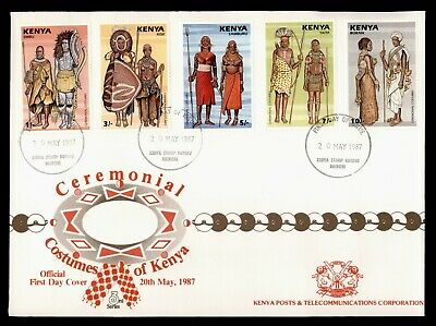 Dr Who 1987 Kenya Ceremonial Costumes Fdc C166054