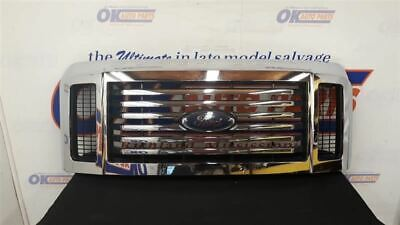 08 Ford F350 Super Duty Oem Upper Chrome Grille Assembly