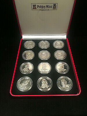1999 Gibraltar 1 Crown 12 Coin Set House Of Kings 871-1685