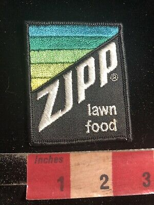 Vtg ZIPP LAWN FOOD Embroidered Cloth Advertising Patch 02RK
