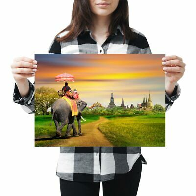 Beautiful Bangkok City Poster Size A4 A3 Thailand Landscape Poster Gift #12377