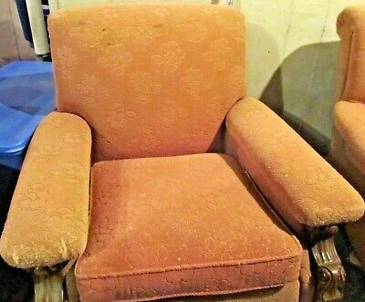 1920s-1930s Spanish Revival (?) Carved Wood Highlighted Armchair, Side Chair
