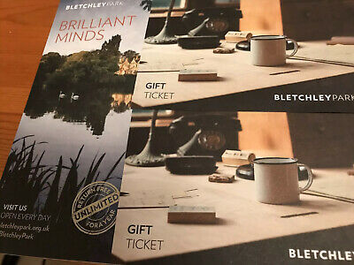 2 Adult Bletchley Park Gift Tickets