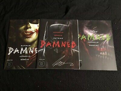 Batman Damned 1-3 Signed by Azzerello First Print Uncensored Excellent Condition