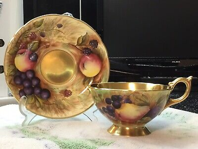 Aynsley Orchard Gold Tea Cup And Saucer