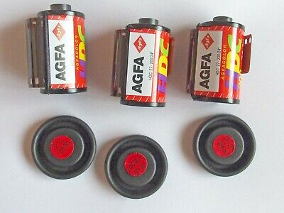 3 x AGFA 35mm Colour Print Film 200 ASA - Out of date (1x36exp, 2x27 exp.)