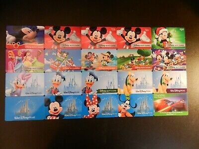 Lot Of Twenty-Four (24) All Different Collectible Only *Disney* Gift Cards