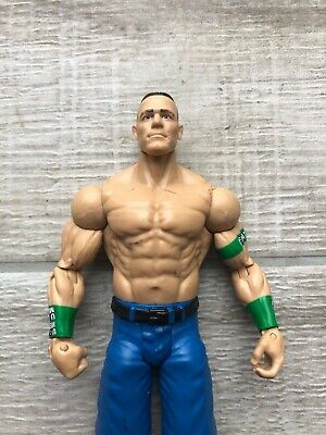 WWE WWF John Cena Basic Series 2012 Wrestling Figure Mattel Blue Shorts
