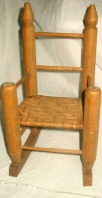 Antique Vintage Woven Chair For Large Doll Or Salesman Sample