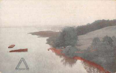 Occoquan Virginia Creek and Potomac River from Train Window Postcard AA4597