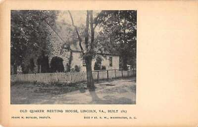 Lincoln Virginia Old Quaker Meeting House Vintage Postcard AA4600