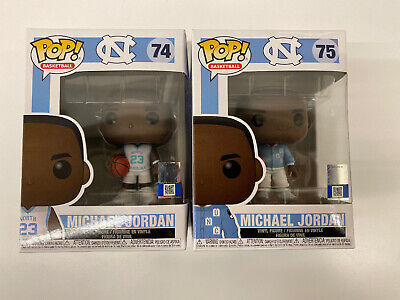 Michael Jordan UNC North Carolina Funko Pop! Basketball Lot - 2 Pieces 74 & 75