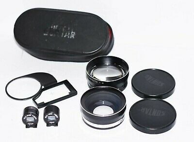Yashica GSN Telephoto+Wide Angle Lens Set by Suntar 55mm FINDER+EXTRAS-FREE SHIP