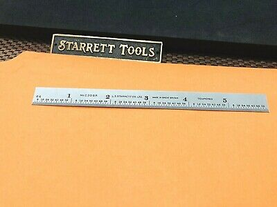 "STARRETT No. C309R-6 Full-Flexible Steel Rule with Inch Graduations. ""Britain""."