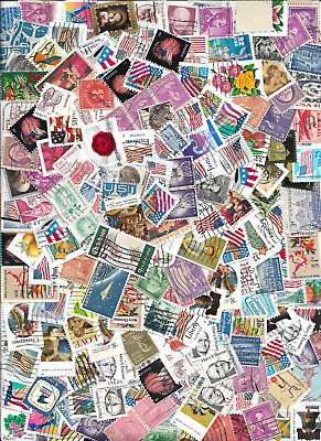 One ounce of used stamps off paper or closely cropped free US ship (152)
