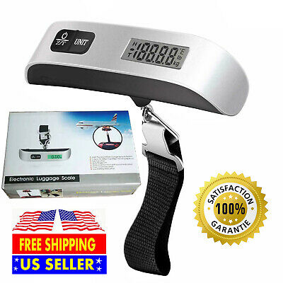 110Lb 50kg Portable Travel LCD Digital Hanging Luggage Scale Weight Electronic