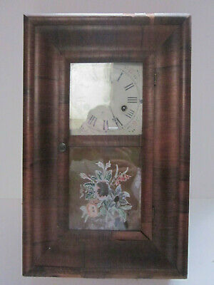 Antique E N Welch Wind Up Tall Mantel Clock W/Key And Pendulum Project Clock
