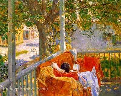 Goldfish Window by Childe Hassam 8x10 Print Summer Woman Fish Bowl Table 107