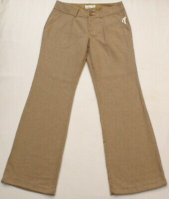NEW Old Navy Womens Boot Cut Wool Blend Tan Beige Casual Dress Pants Size 8 R