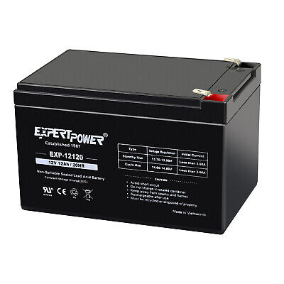 Mighty Max Battery ML15-12 12V 15AH F2 UPS Battery for Chloride 100001013602012V 6 Pack Brand Product