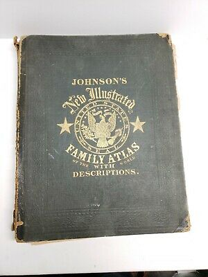 Johnson's New Illustrated Family Atlas of the World with Descriptions 1866