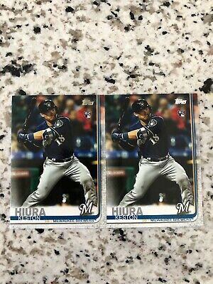 2019 Topps Update Keston Hiura 2B (MIL) RC US150  2x Lot Milwaukee