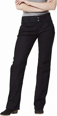 Riders By Lee Womens Pants Deep Black Size 6 Pull-On Stretch Knit $40 937