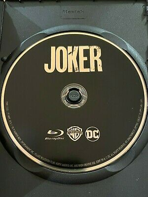 Joker (Blu-ray Disc ONLY, 2019) w/ BLANK CASE! NEVER VIEWED! SEE DETAILS!