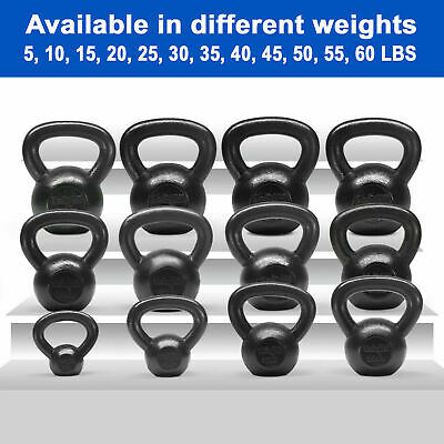 Yes4All Cast Iron Kettlebells Weights 5 to 50 Lbs Lifting Training Gym Strength