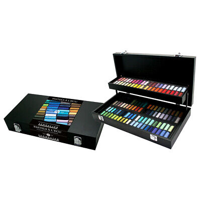 Sennelier Soft Pastel Black Wood Box Set of 120 Half Sticks