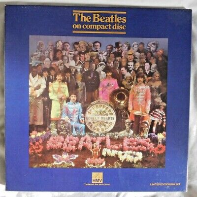 1987 THE BEATLES Sgt.Peppers Lonely Hearts Club Band HMV Ltd Numbered CD Boxset