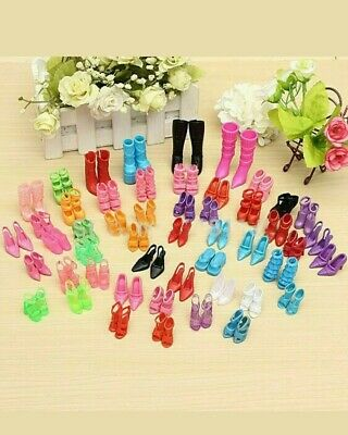 New 40 Pairs Handmade Party Dress Shoes For Barbie Doll Toys Accessories AU