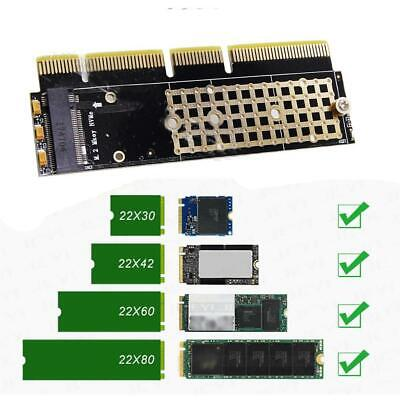 New M.2 NVMe SSD NGFF TO PCIE 3.0 X16 Adapter M Key Interface Cards Full  Speed