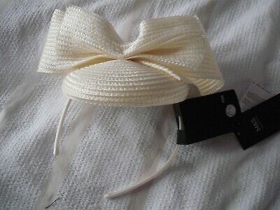 M&S CREAM fascinator new with £35 tag on