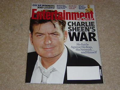 CHARLIE SHEEN March 11 2011 ENTERTAINMENT WEEKLY MAGAZINE #1145 Colin Firth