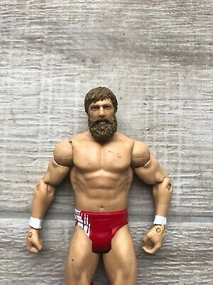 WWE WWF Daniel Bryan Basic Series 2012 Wrestling Figure Mattel Red White Trunks